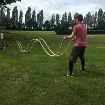 Battle Rope Exercise with PT Matt
