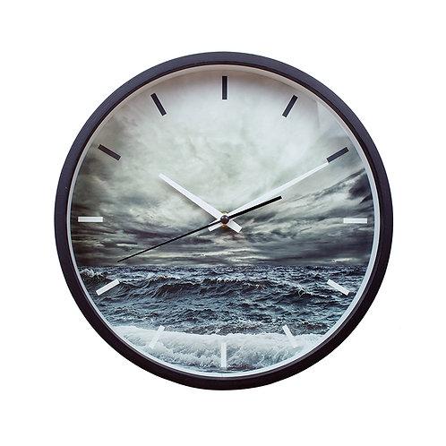 Ocean Wooden frame wall clock