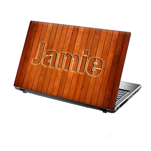 Personalised Laptop Skin Wood Pattern