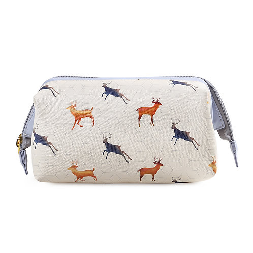 Make-up Bag with Frame Leaping Stags