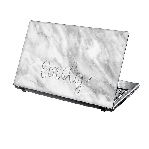 Elegant Marble Personalised Laptop Skin