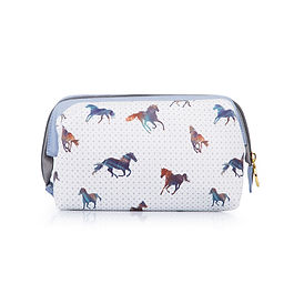 Horse pattern makeup bag