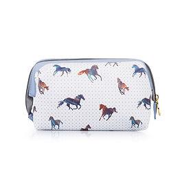 Horse pattern makeup bag