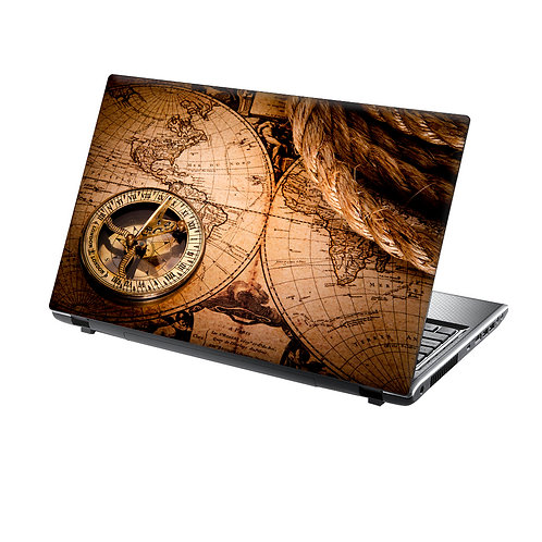 Laptop Skin Vinyl Sticker Vintage Sailing Map