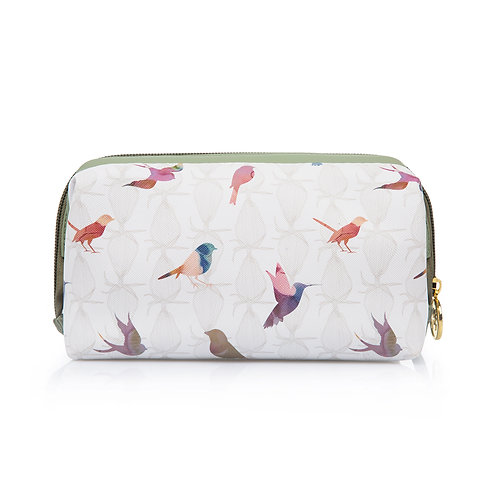 Colourful birds cosmetic case