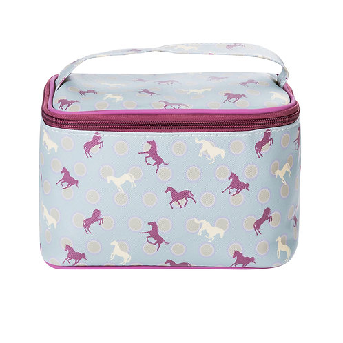 Polka dot horse makeup bag