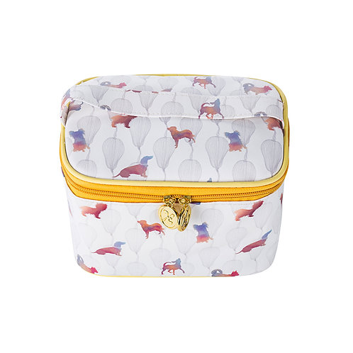 Soft Vanity Case Make-up Bag with Handle Colourful Dogs