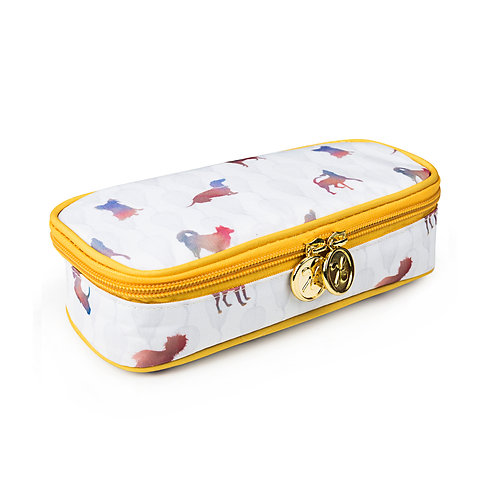 Pencil Case with Compartment Colourful Dogs