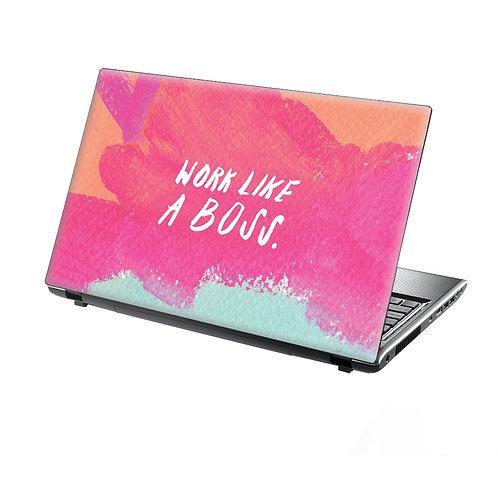 Laptop Skin Vinyl Sticker Work Like A Boss