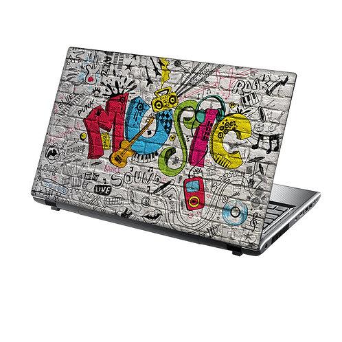 Laptop Skin Vinyl Sticker Music Graffiti