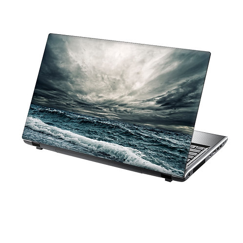 Laptop Skin Vinyl Sticker Stormy Ocean