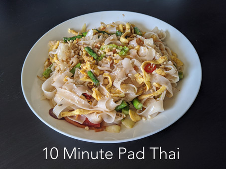 10 Minute Authentic Pad Thai (with plant based option)
