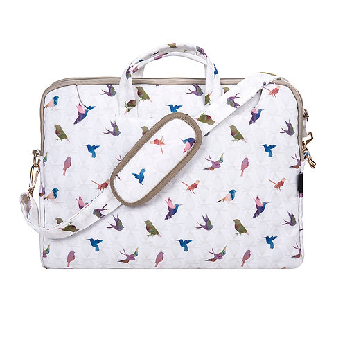 Colourful birds laptop bag