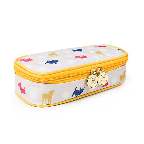 Pencil Case with Compartment Polka Dot Dogs