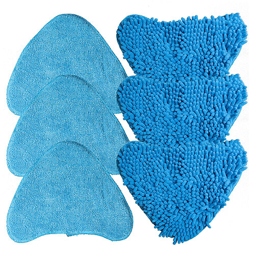 TaylorHe Universal Pack of 6 Steam Mop Replacement Pads Washable Reusable