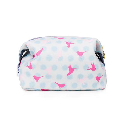 Canvas Make-up Bag Polka Dot Birds