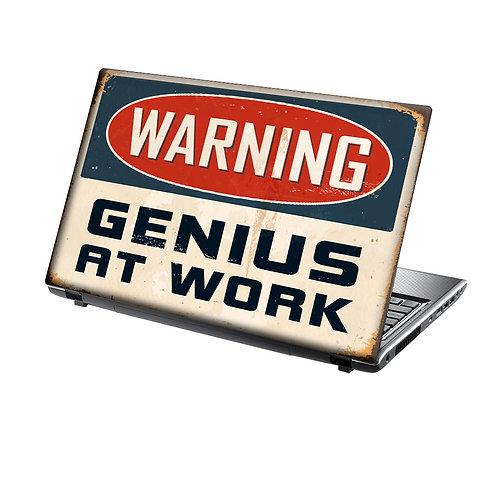 Laptop Skin Vinyl Sticker Genius at Work