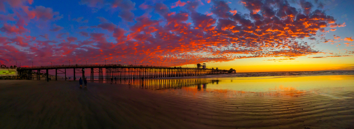 Oceanside Sunset Panoramic