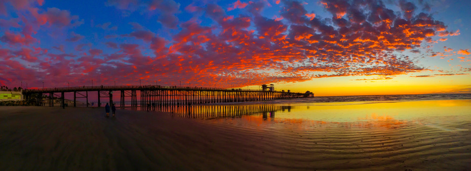 Oceanside Sunset Panoramic