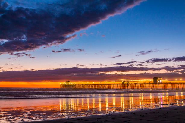 Oceanside, CA - Sunset at the Pier