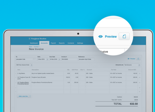 Xero - New live preview for invoicing lets you see before you send