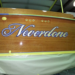 """Neverdone,"" a 1938 26' Richardson"