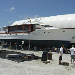 """Windrush,"" a 1966 55' Trumpy yacht"