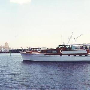 """Blue Moon"", a 1963 68' Trumpy yacht"