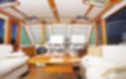 "Interior photo of Chris Hood 50' ""Sea Bl"