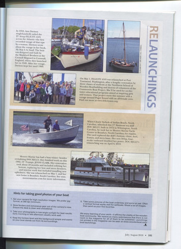 WoodenBoatJulyAug2018 Launchings Page