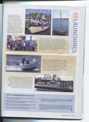 WoodenBoatJulyAug2018 Launchings Page