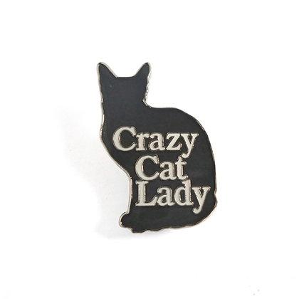 Crazy Cat Lady Pin Badge CCL