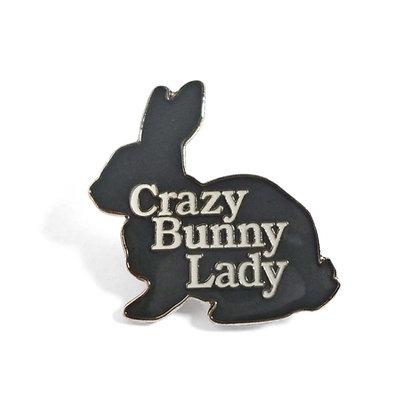 Crazy Bunny Lady Pin Badge CCL