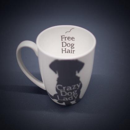 Crazy Dog Lady Bone China or Stoneware Mug CCL