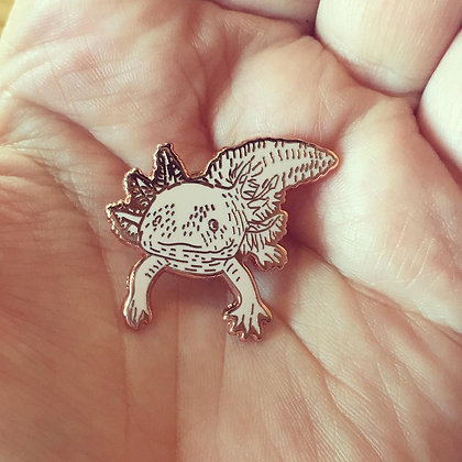 Axolotl Pin Badge CCL
