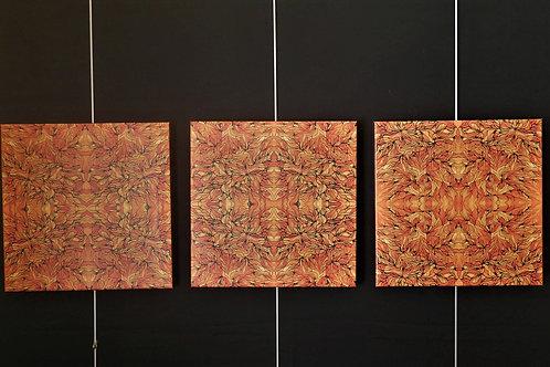 3 carrés feu d'encre