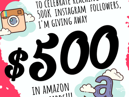Celebrating 500K Insta-followers!