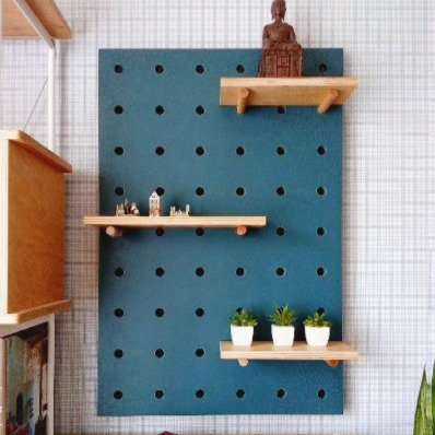 Pegboard with shelves, pegboard organizer, peg board display