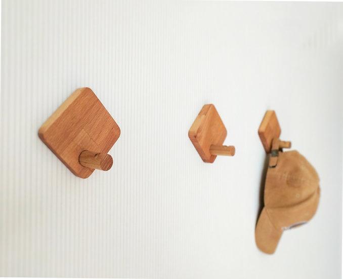 Wooden Wall Hooks, Wooden Decorative Hooks, Modern wall hooks. Square wall hooks