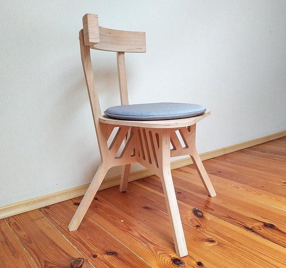 Self-assembly chair, wooden chair, modern plywood chair, scandinavian chair.
