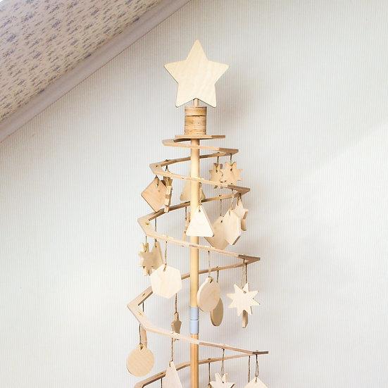 Foldable wooden Christmas tree. Artificial XMAS tree.  Eco  XMAS tree