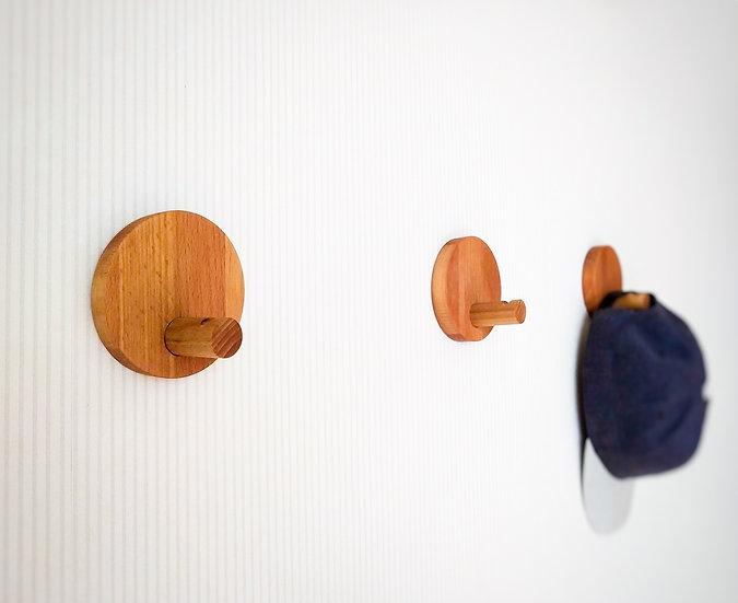 Wooden Wall Hooks, Wooden Decorative Hooks, Modern wall hooks. Round wall hooks