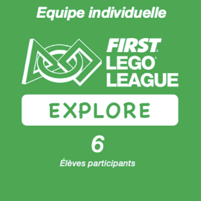 Inscription FIRST LEGO League Explore PLAYMAKERS - Equipe individuelle