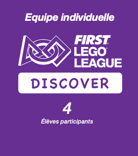 Inscription FIRST LEGO League Discover PLAYMAKERS - Equipe individuelle