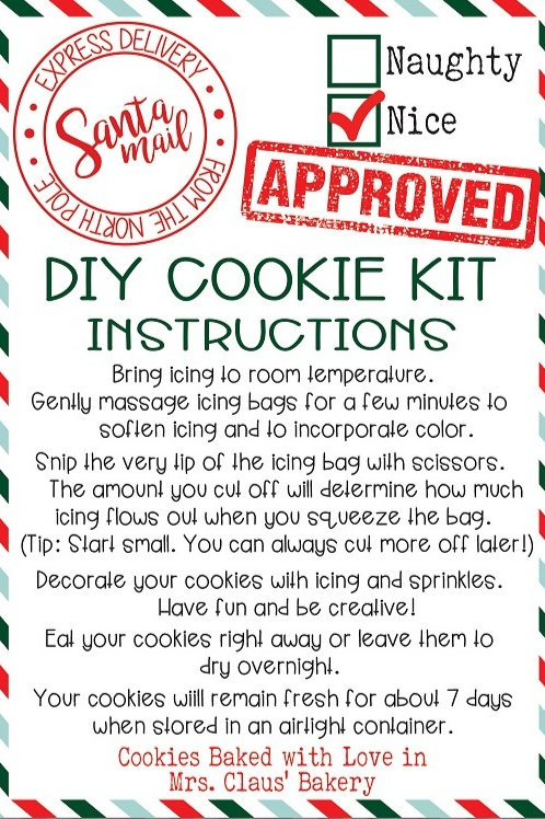 DIY Cookie Kit - Local Pickup Only