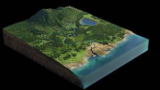 Shenzhen Wetlands - 3D Axonometric