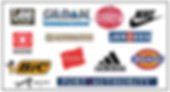 Clothing Companies such as Nike, Dickies, Port Authority whic can be embroidered.