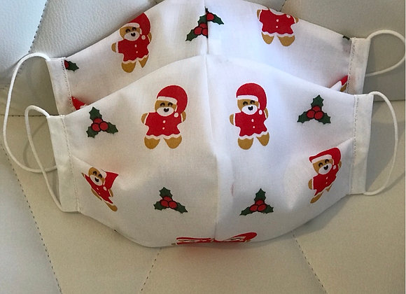 Christmas Gingerbread Man fabric face covering