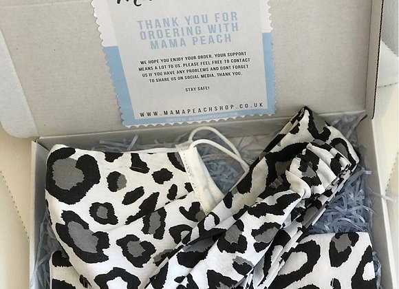 Grey Leopard print Gift set