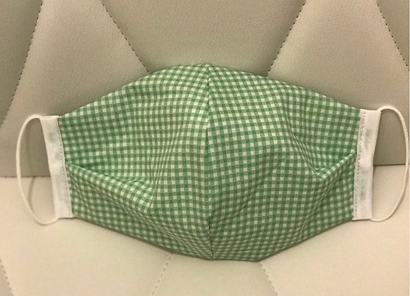 Green Gingham Face covering